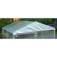Lucky Dog Weatherguard Kennel Cover with Frame, 5' L X 5' W