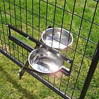 Lucky Dog Probreeder Turn-Style 2-Bowl System Kennel Dog Bowls