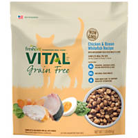 Vital Grain Free Chicken and Ocean Whitefish Complete Meals For Cats, 1 lb.