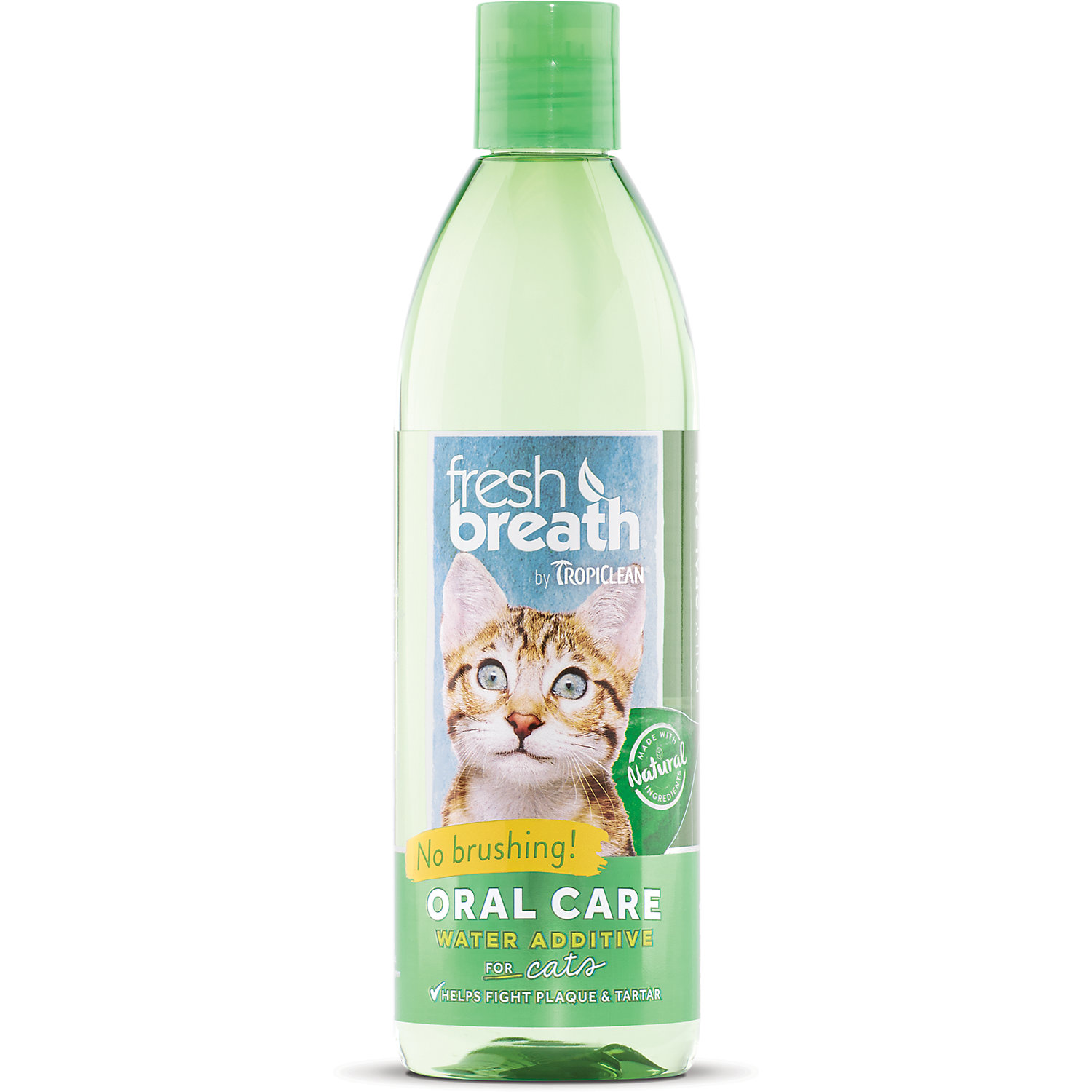 Tropiclean Fresh Breath Oral Care Water Additive For Cats 16 Oz.