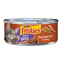 Friskies Meaty Bits Gourmet Grill Canned Cat Food