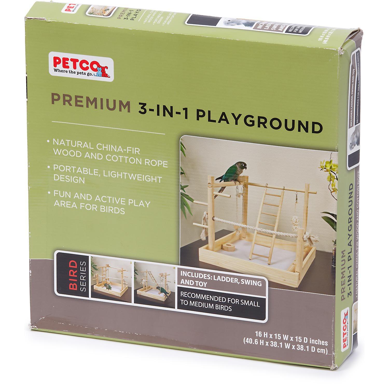 Petco Premium 3-in-1 Playground for Birds