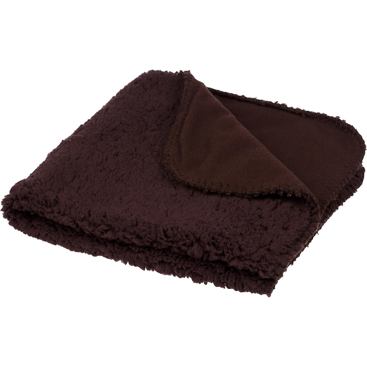 Petco Square Fleece Cat Throw in Chocolate