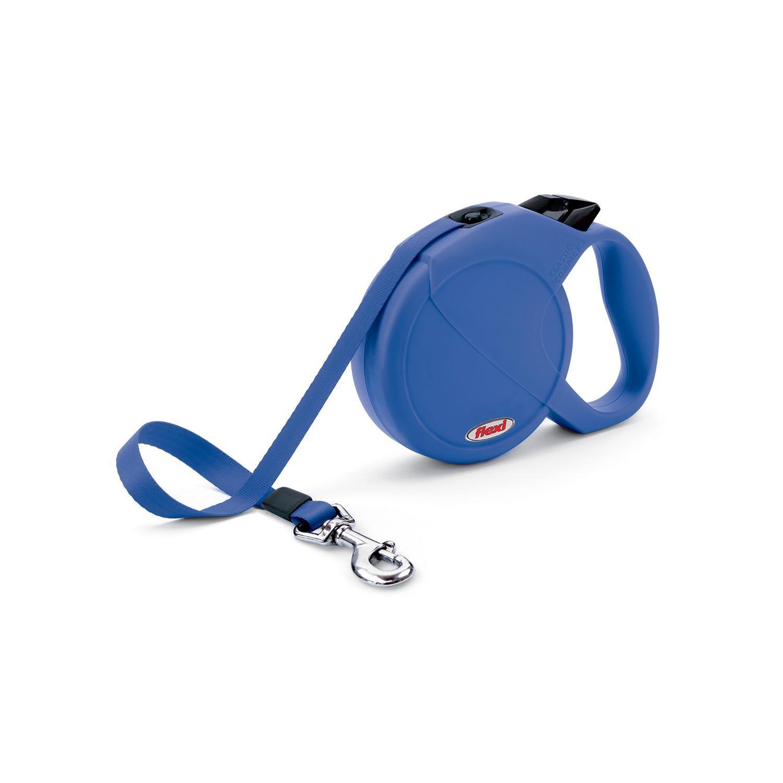 Flexi Durabelt Retractable Dog Leash in Blue