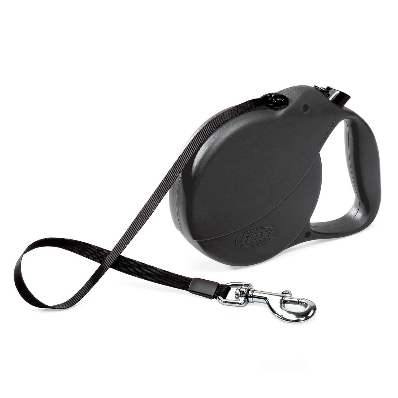 Flexi Explore Retractable Dog Leash in Black