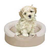 Soft Touch Cuff Tan/Ivory Cuddler Dog Bed