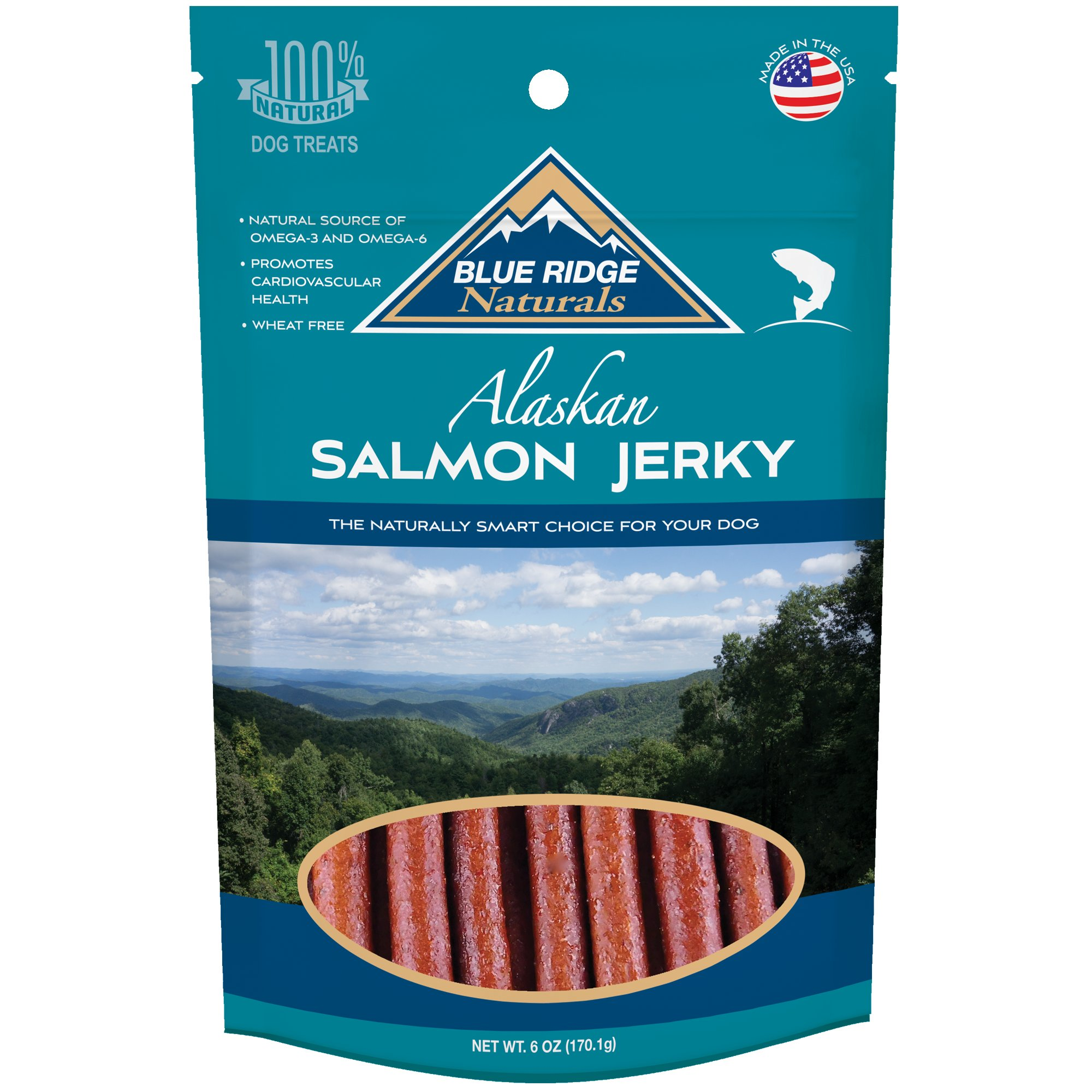 Blue Ridge Naturals Oven Baked Salmon Jerky Dog Treats