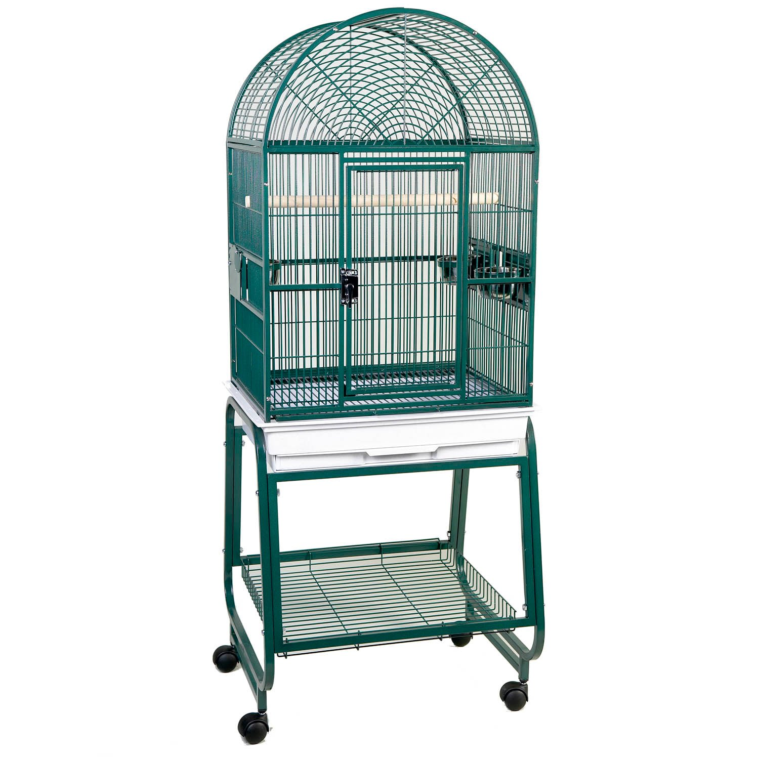 HQ Open Dometop with Stand Bird Cage in Green