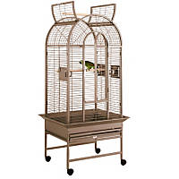 HQ Opening Dometop with Stand Bird Cage in Platinum