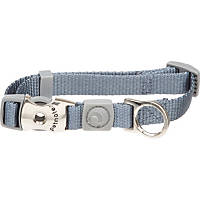 Aspen Pet by Petmate Deluxe Signature Nylon Pewter Dog Collar