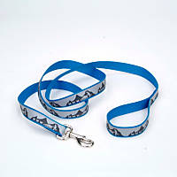 Coastal Pet Lazer Brite Reflective Dog Leash in Blue Lagoon with Sled Dog Print