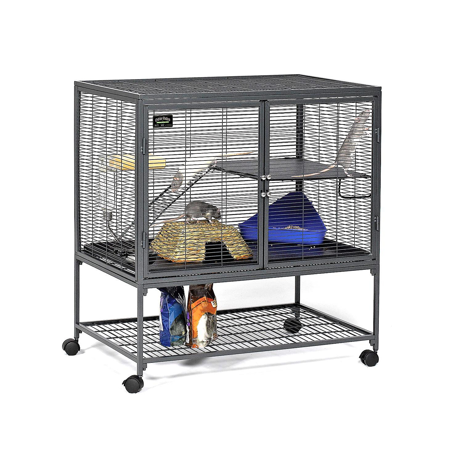Midwest Critter Nation Single Unit With Stand Small Animal Cage 36 L X 24 W X 39 H