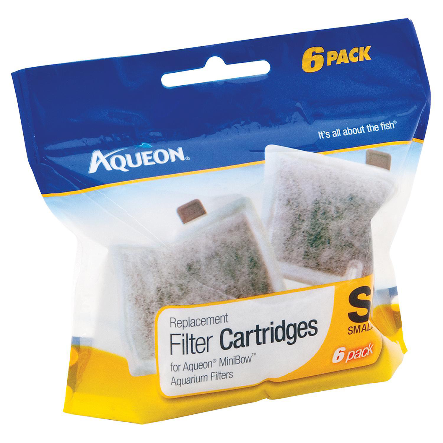 Aqueon Minibow Replacement Filter Cartridges Small Pack Of 6
