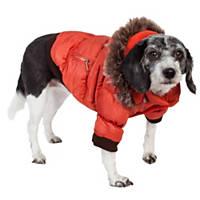 Pet Life Metallic Tangerine Dog Parka