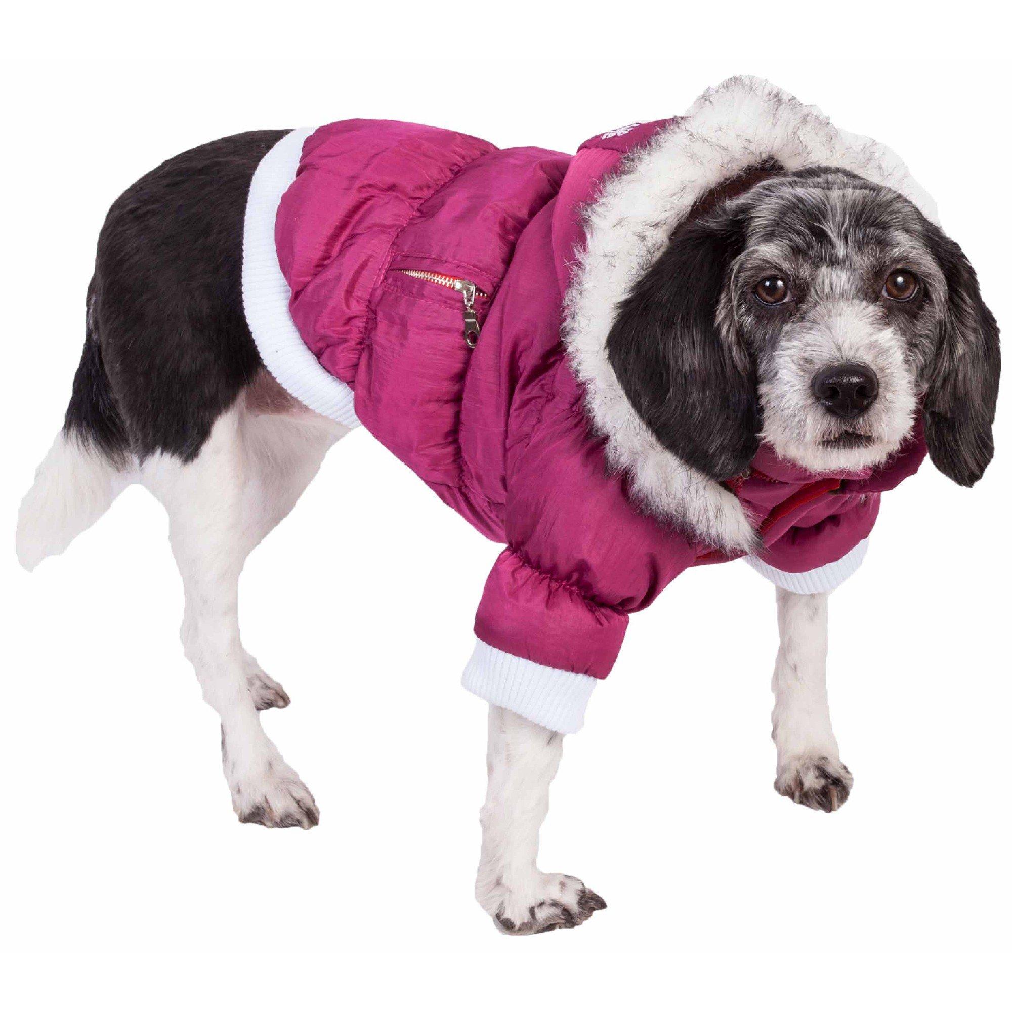 Pet Life Metallic Pink Dog Parka