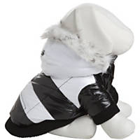 Pet Life Striped Fashion Parka for Dogs