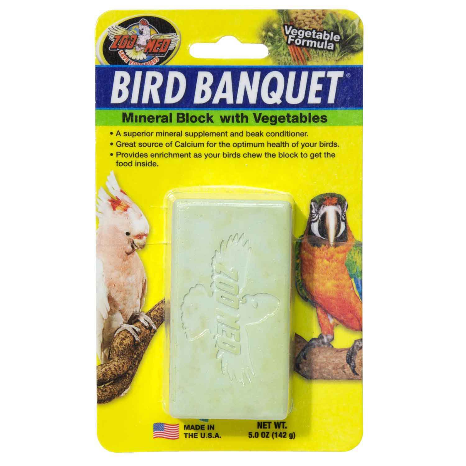 Zoo Med Vegetable Bird Banquet Block