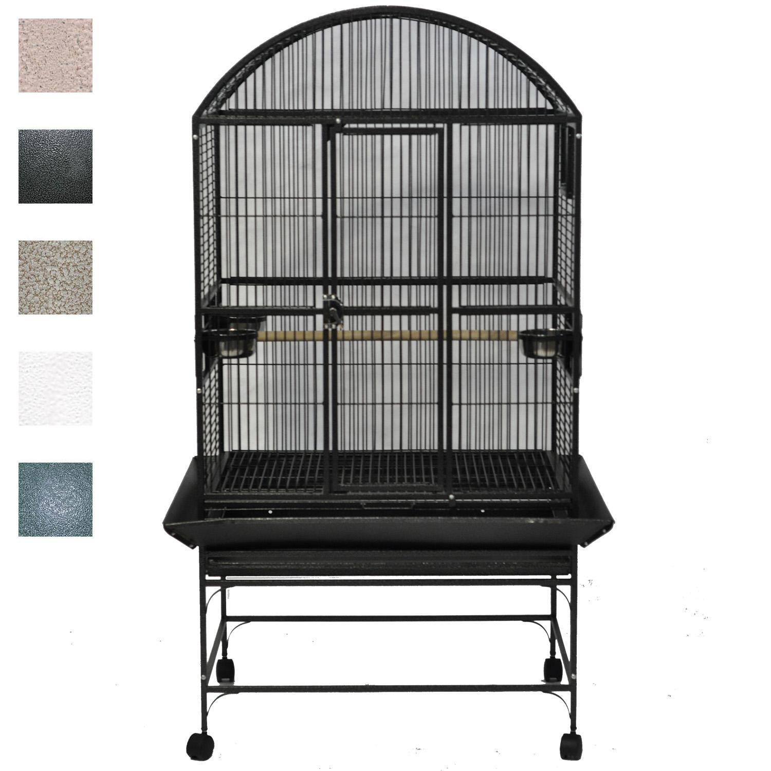 A&E Cage Company Palace Dometop Bird Cage in Black
