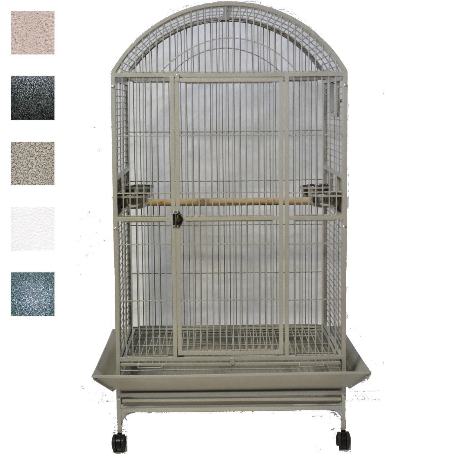 A&E Cage Company Macaw Mansion Dometop Bird Cage in Green