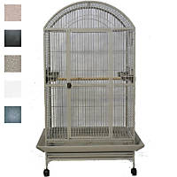 A&E Cage Company Macaw Mansion Dometop Bird Cage in Black