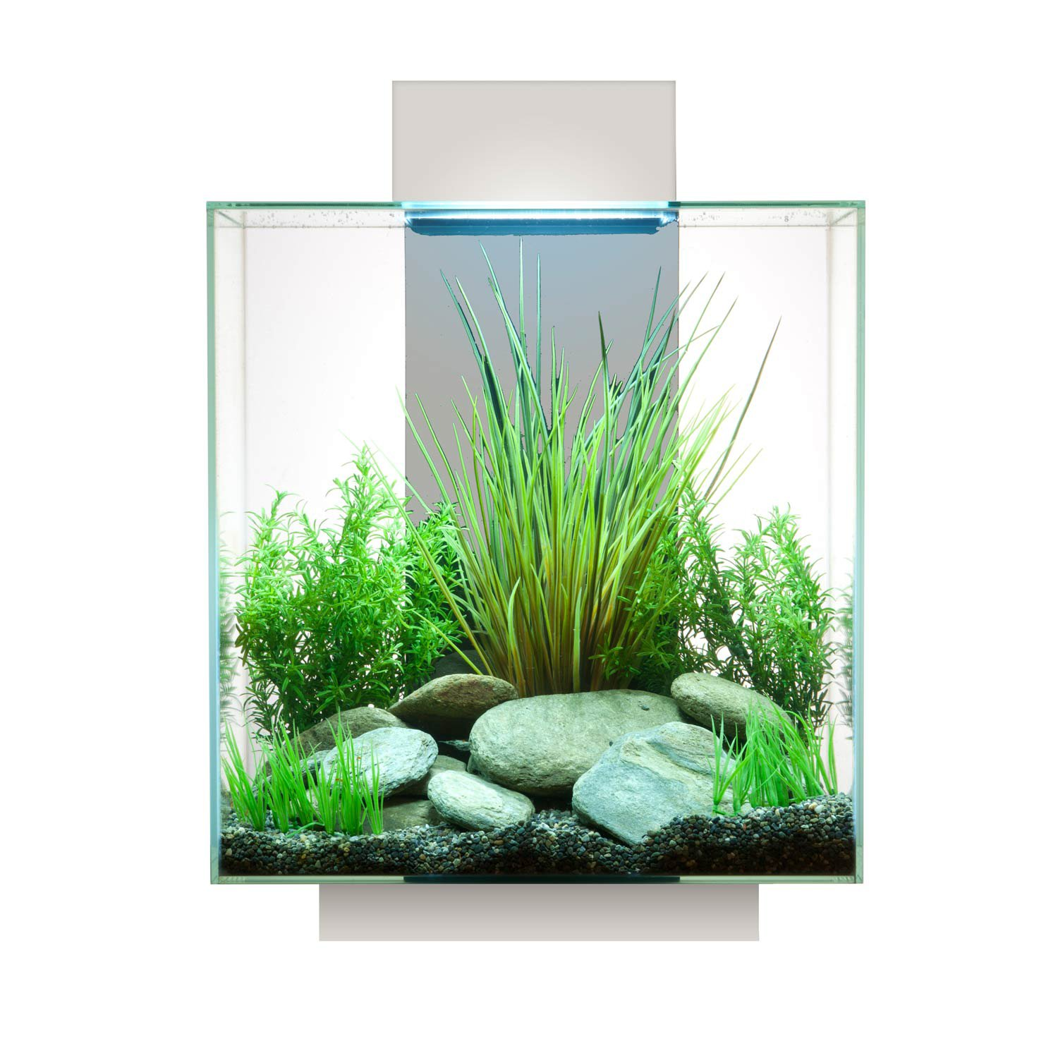 Fluval edge aquarium kit in white petco for Fluval fish tank