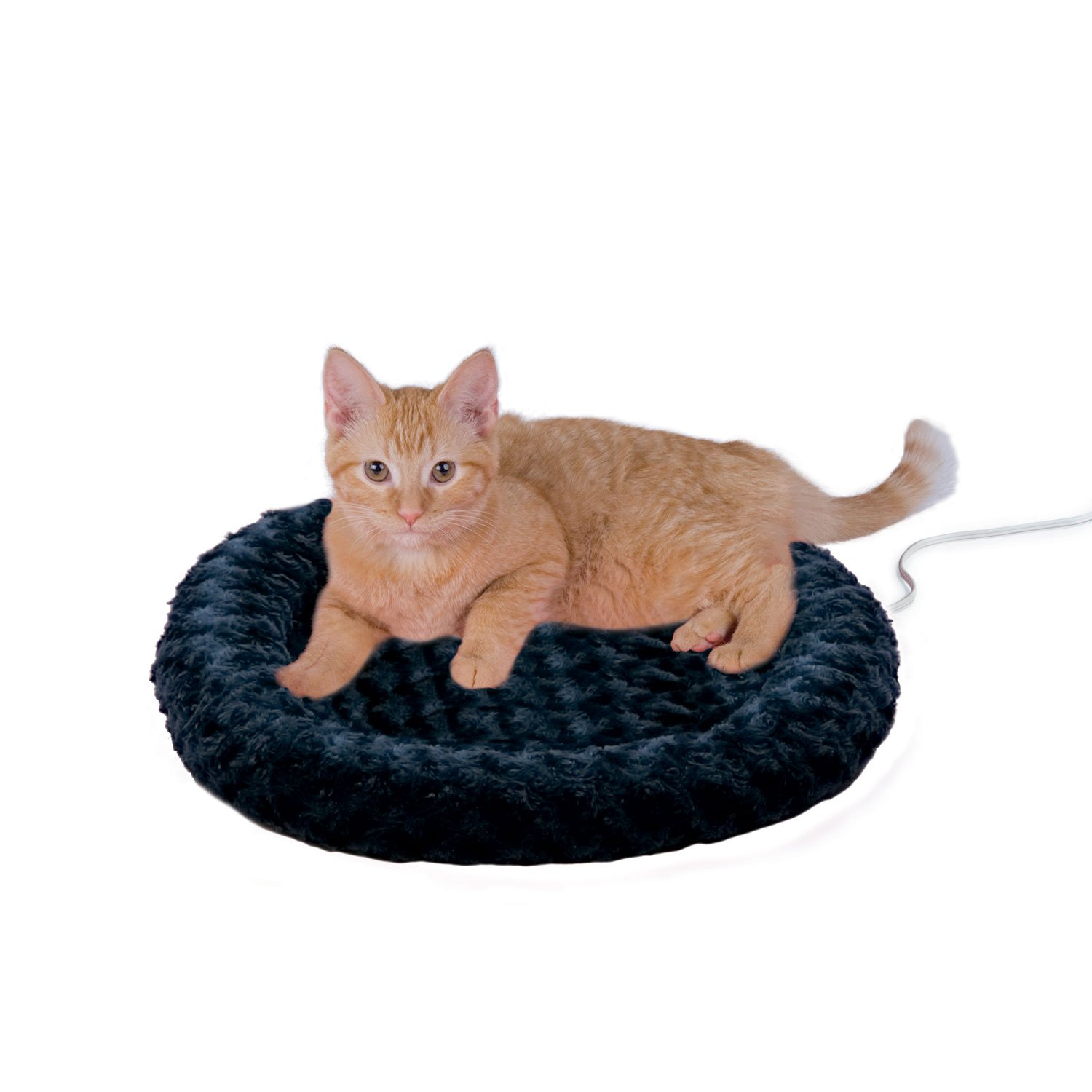 K&H Thermo-Kitty Fashion Splash Blue Heated Cat Bed