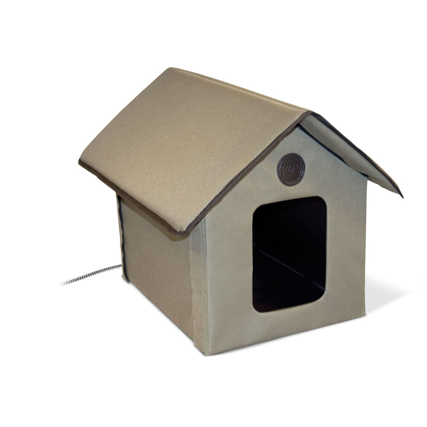 K&H Outdoor Heated Kitty House in Olive