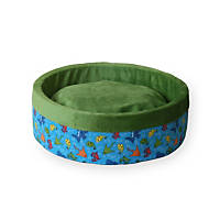 K&H Fish Print Thermo-Kitty Heated Cat Bed in Lime Green