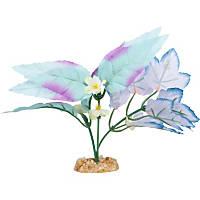 Petco Blue Purple Leaf Mix Silk Aquarium Plant
