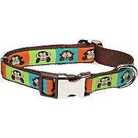 Petco Adjustable See No Monkey Dog Collar in Brown