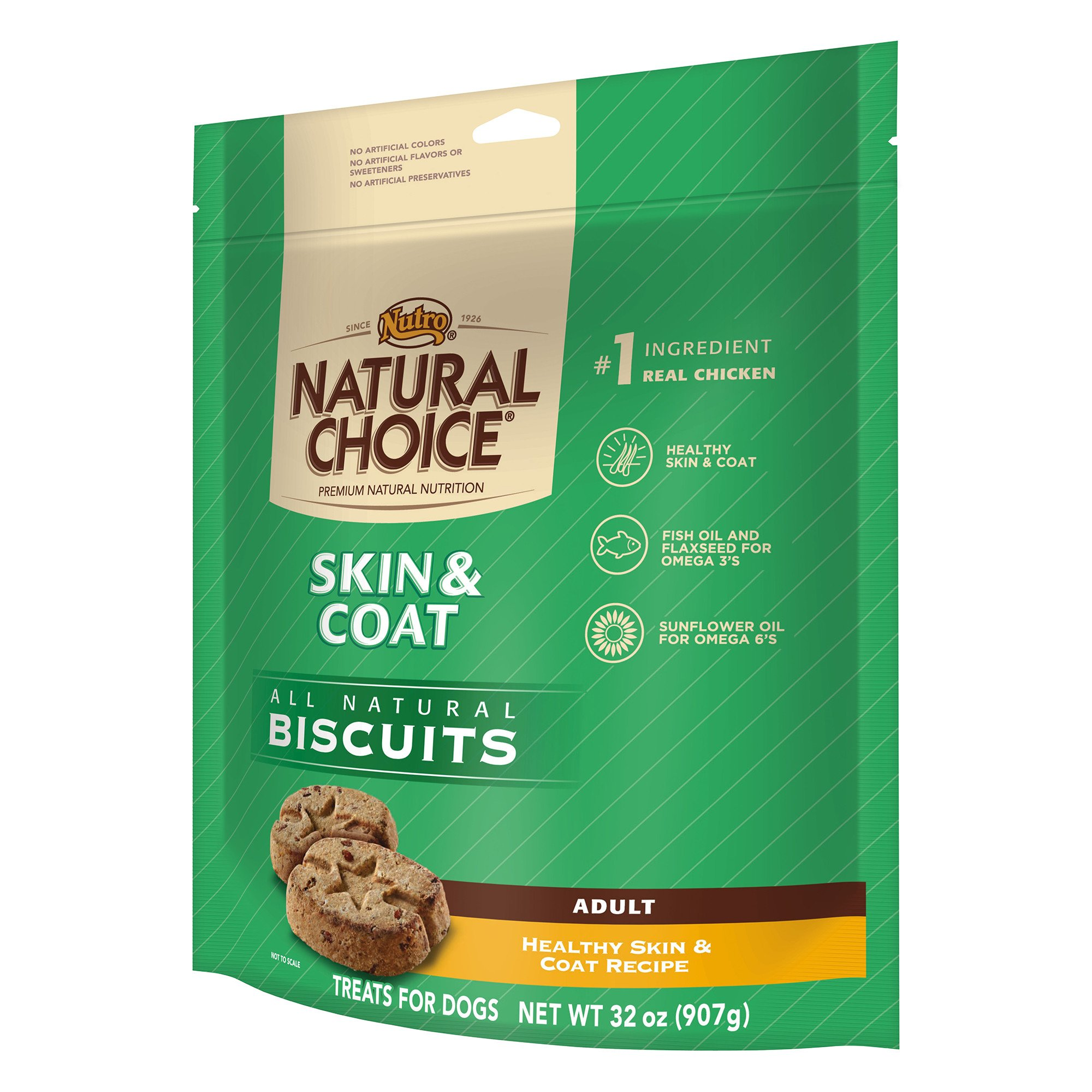 Nutro Skin & Coat All Natural Dog Biscuits