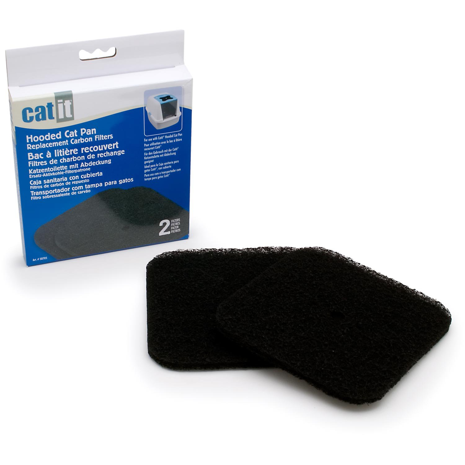 Hagen CatIt Cat Litter Box Replacement Carbon Filters