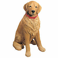 Sandicast Golden Retriever Life Size Figurine