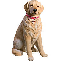 Sandicast Light Golden Retriever Life Size Figurine
