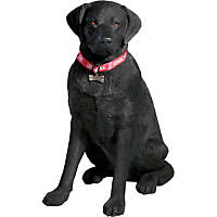 Sandicast Black Labrador Retriever Life Size Figurine