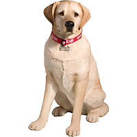 Sandicast Yellow Labrador Retriever Sitting Life Size Figurine