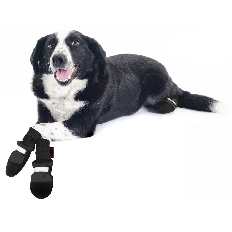 Muttluks Black Fleece Lined Dog Boots