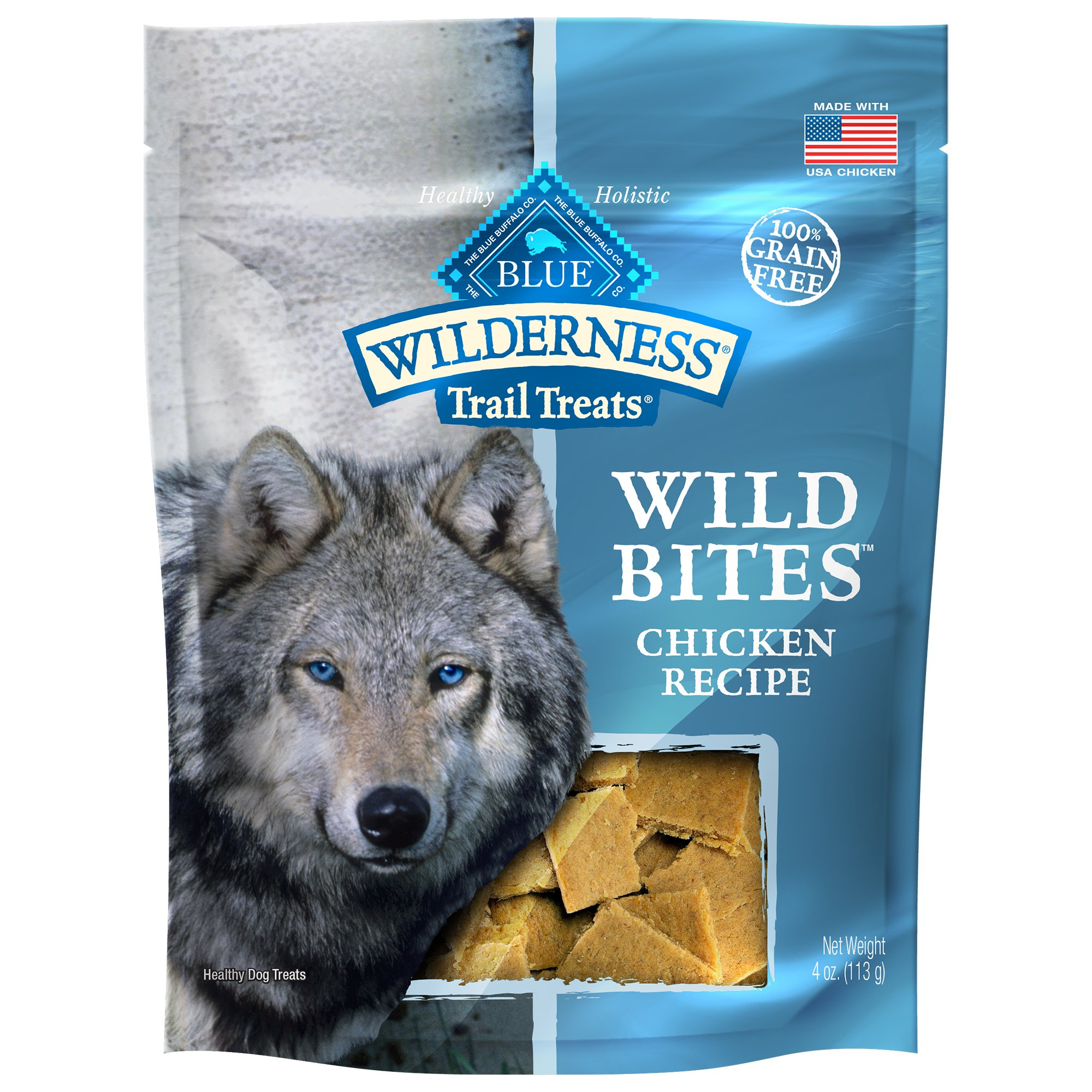 Blue Buffalo Wilderness Grain-Free Wild Bites Chicken Treats