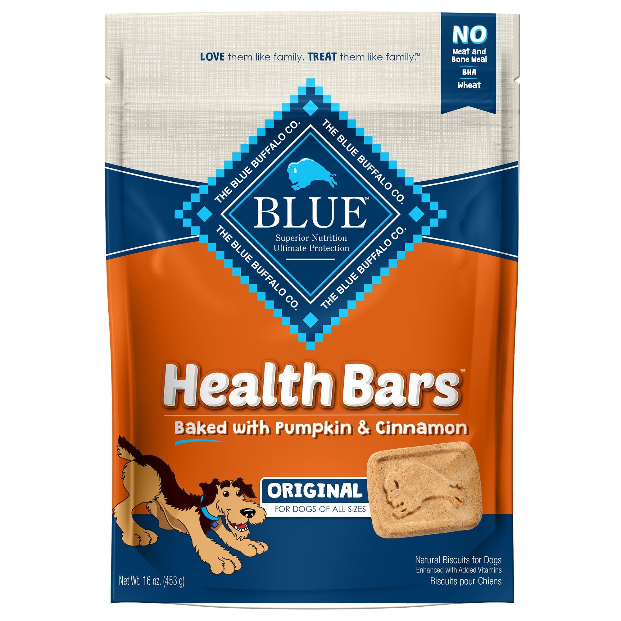 Blue Buffalo Health Bar Pumpkin & Cinnamon Dog Biscuits