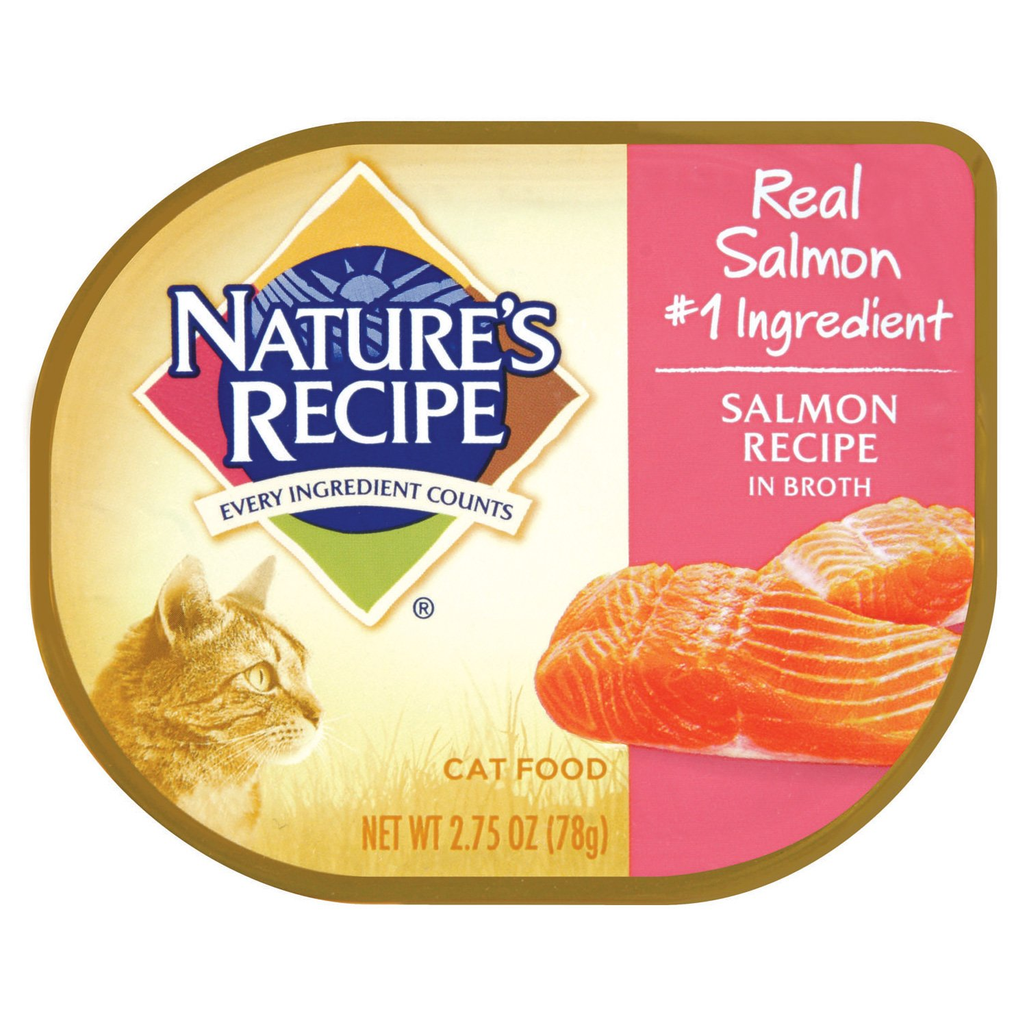 Nature's Recipe Salmon Recipe in Broth Adult Canned Cat Food