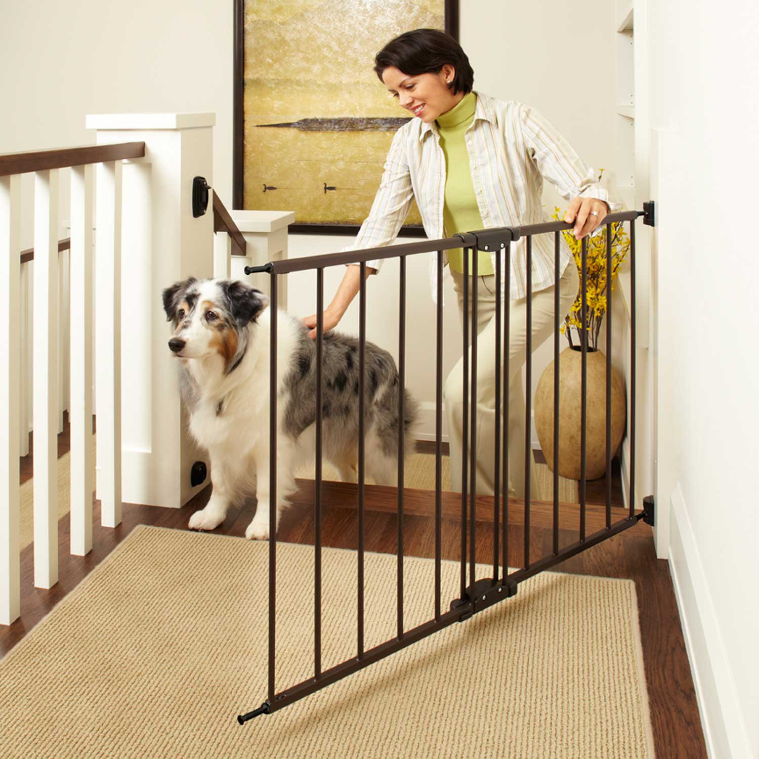 north states easy swing lock pet gate petco. Black Bedroom Furniture Sets. Home Design Ideas