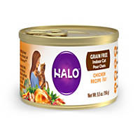 Halo Spot's Pate Ground Chicken Recipe Canned Cat Food
