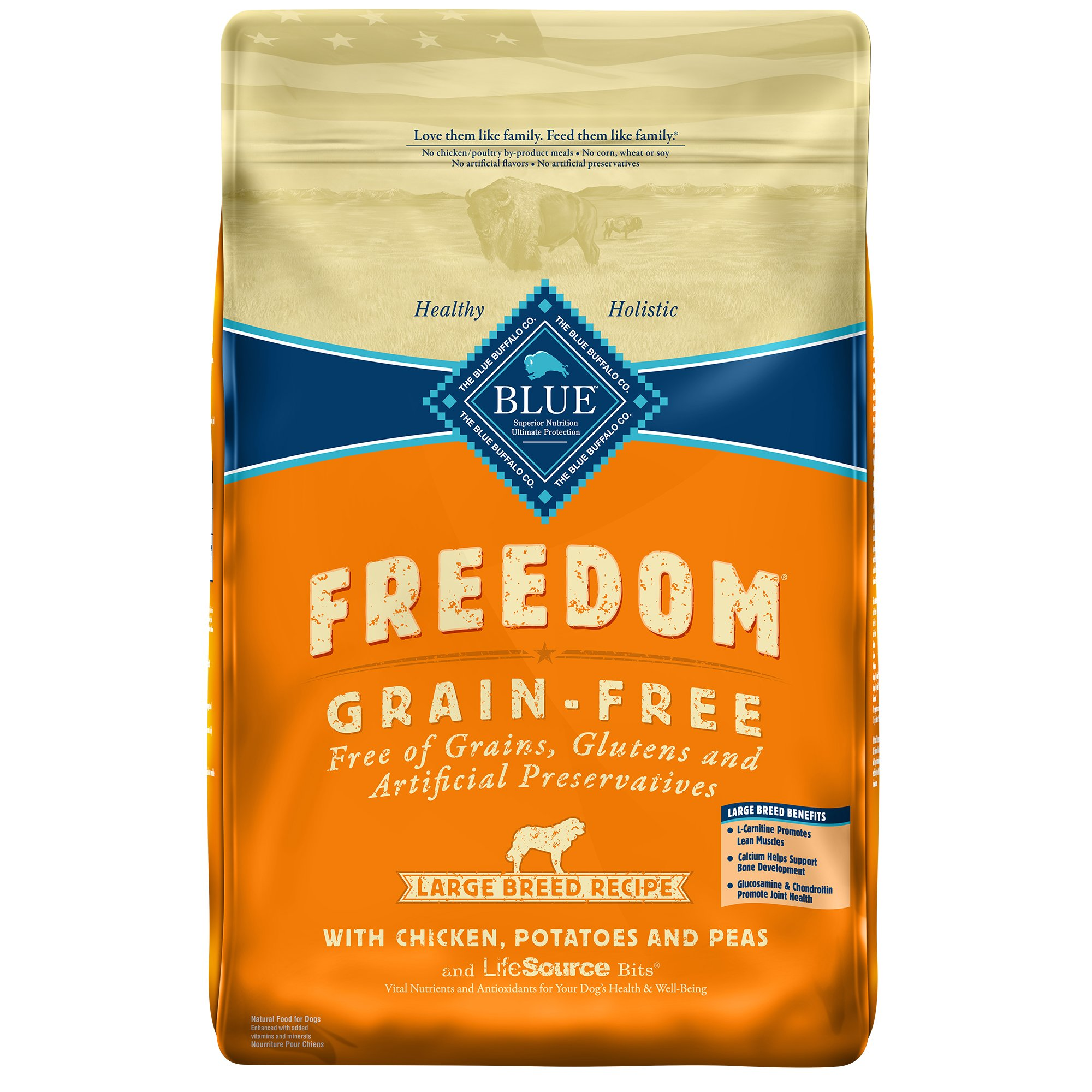Blue Buffalo Large Breed Freedom Grain Free Chicken Recipe Adult Dog Food