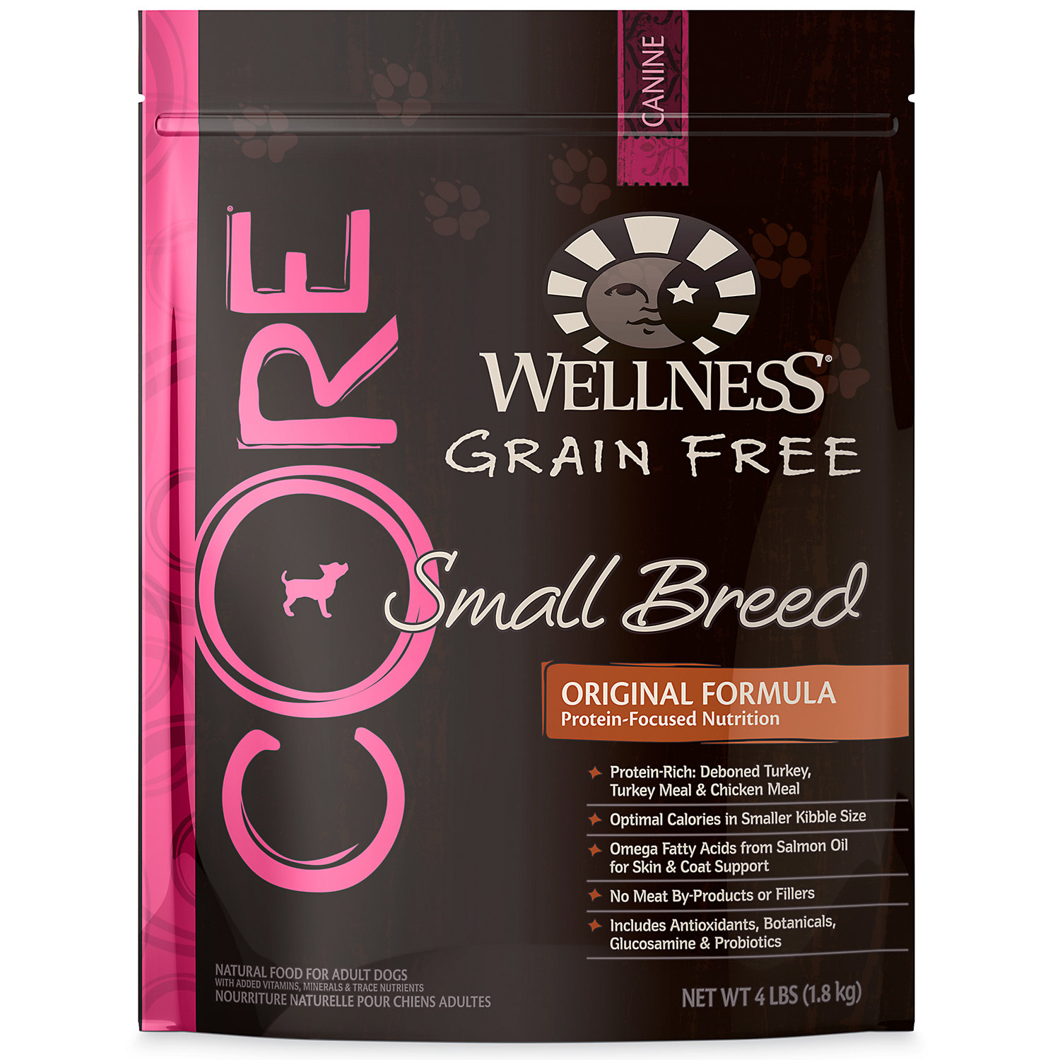 Wellness CORE Small Breed Adult Dog Food, 4 lbs.