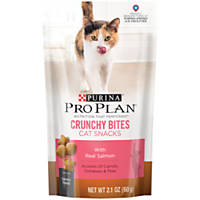 Pro Plan Savory Bites Crunchy Salmon Cat Treats, 2.1 oz.