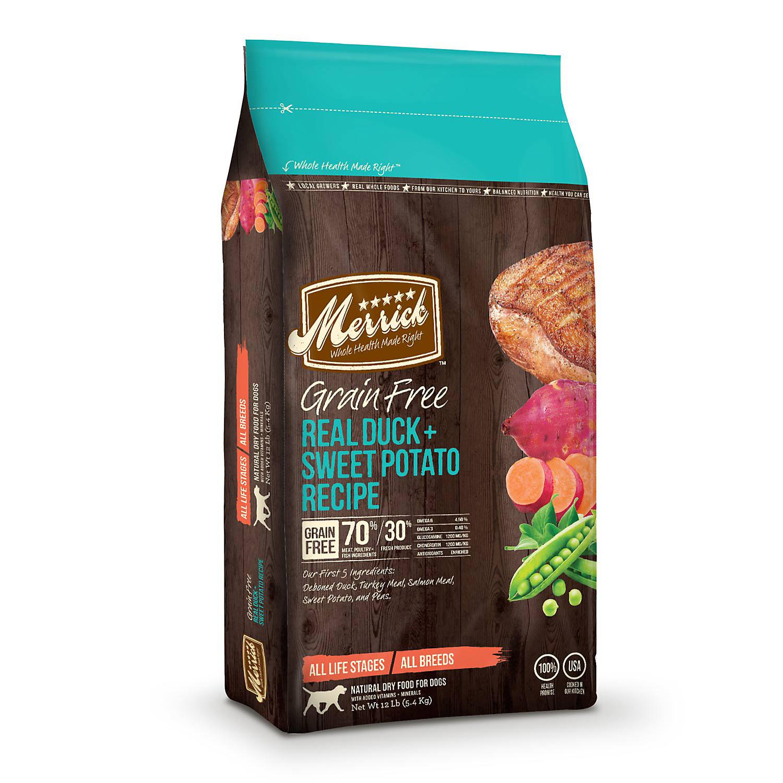 Merrick Grain Free Real Duck & Sweet Potato Dry Dog Food, 4