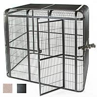 A&E Cage Company Walk In Aviary in Black