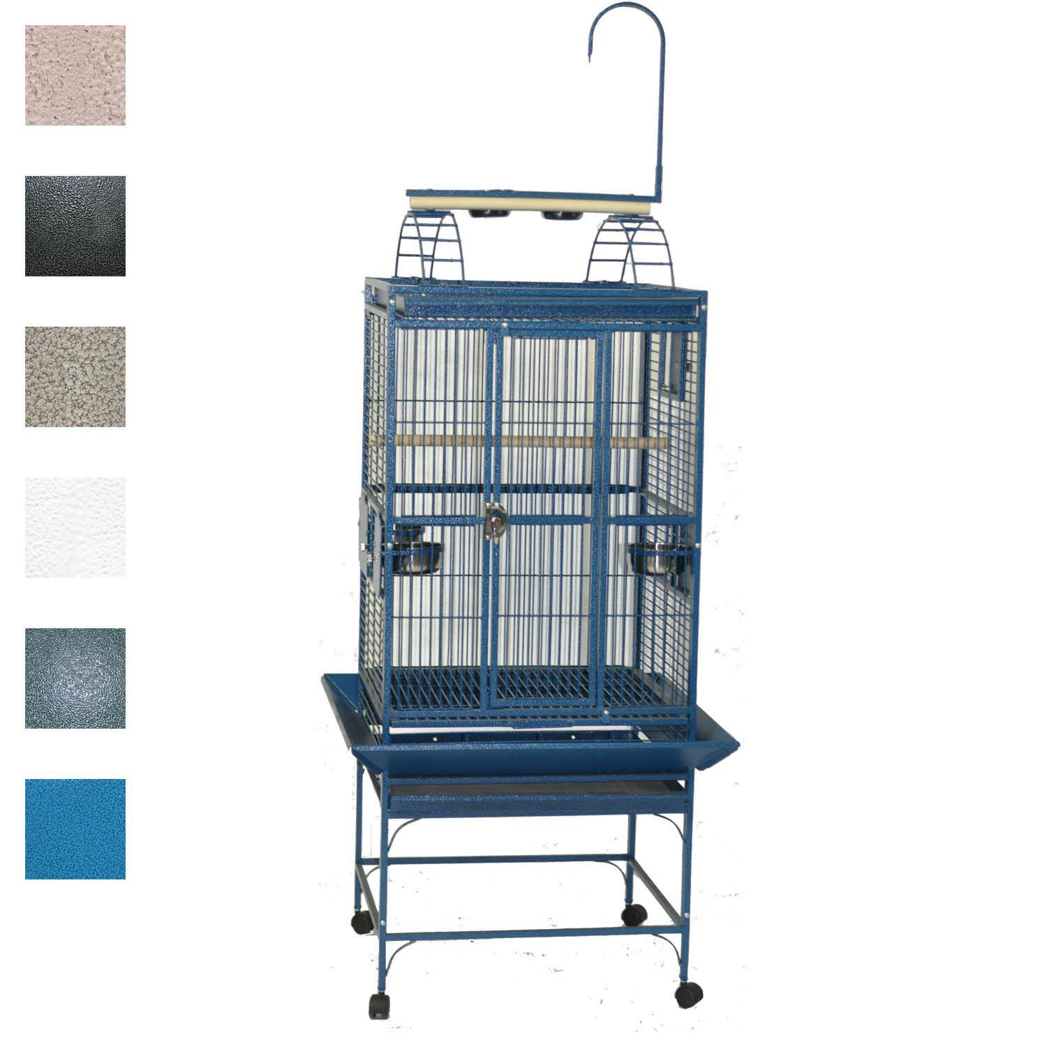 "A&E Cage Company 24"" X 22"" Play Top Bird Cage in White"