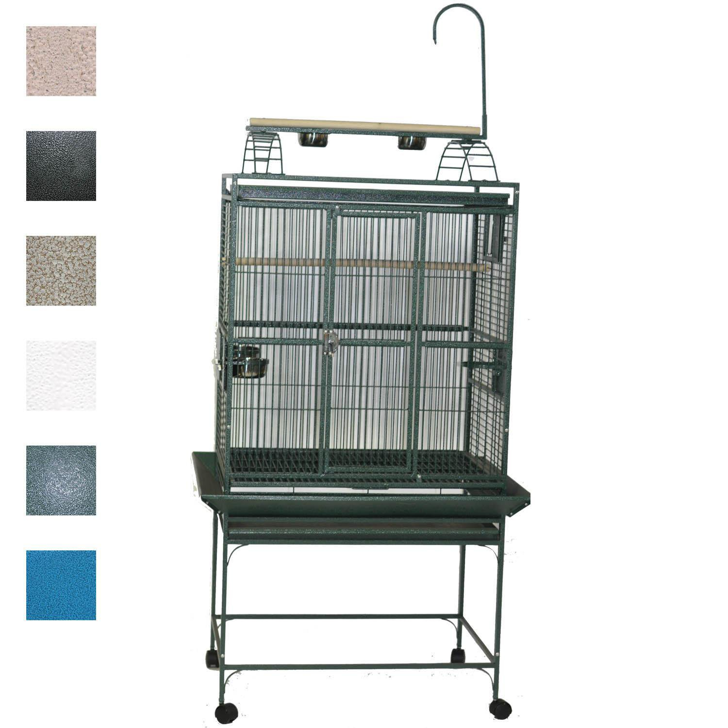 "A&E Cage Company 32"" X 23"" Play Top Bird Cage in Green"