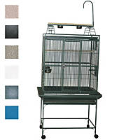 A&E Cage Company 32' X 23' Play Top Bird Cage in Platinum